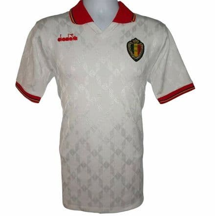 1992-1994 Belgium Away Football Shirt #5, Diadora, Medium (Excellent Condition)